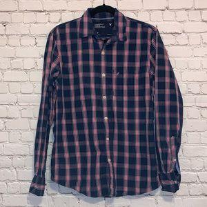 AEO Vintage Fit Plaid Button Down Shirt
